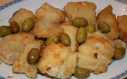 Baccalà fritto alle olive